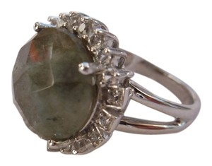 JTV Real Labradorite Gemstone in Sterling Silver Ring - Size 6