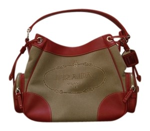 Prada Logo Jacquard Luxury Designer Shoulder Bag