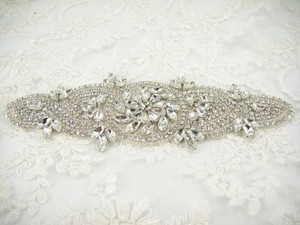 Bridal Applique With Crystals And Rhinestones