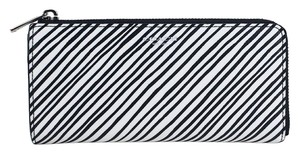 Coach Bleeker Slim Zip Zebra Print Wallet 51142 Multicolor Purse Black / White Clutch