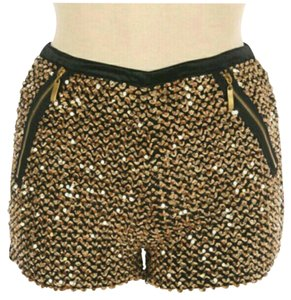 Fashionette Style Boutique Mini/Short Shorts Gold