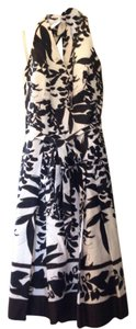 White House | Black Market short dress White, Brown, Black Floral Print Halter on Tradesy