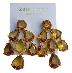 Kate spade colorado amber ny chandelier stone amber seasonless kate spade kate spade ny chandelier earrings colorado stone amber seasonless nwt dust cover 98 aloadofball Image collections