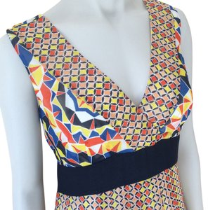 Yellow Orange Blue Maxi Dress by Ann Taylor