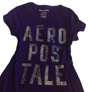 Aeropostale T Shirt purple with bling