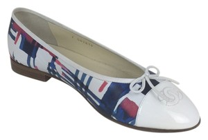 Chanel red white blue Flats