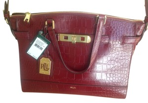 Ralph Lauren Satchel in Rosewood