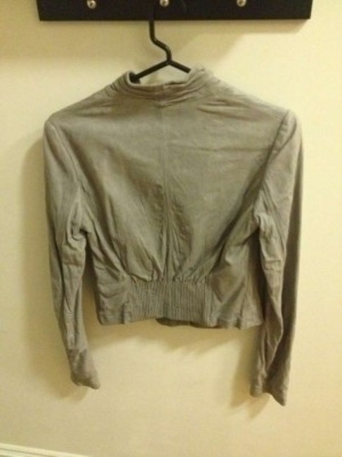 Theory Anchor (Gray) Leather Jacket