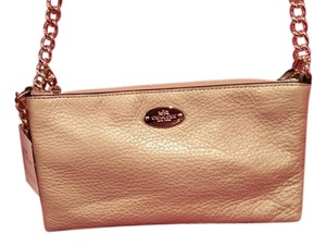 Coach Pebbled Leather Quinn Cross Body Bag