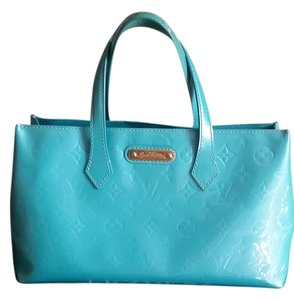 Louis Vuitton Satchel Vernis Tote in Turquoise