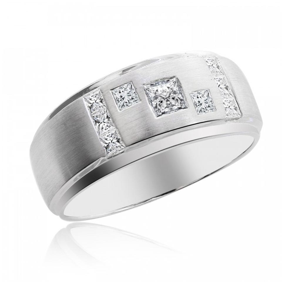 Avital co jewelry carat princess cut diamond mens for Men s 1 carat diamond wedding bands