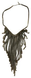 Other Women's Silver and Gold Chain Bib Necklace