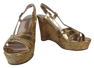 Marc Jacobs Cork Leather Wedge Sandals