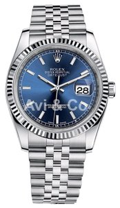 Rolex Rolex Datejust 36 Steel & White Gold Jubilee Bracelet Watch Blue Dial 116234