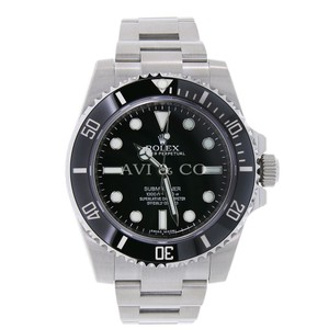 Rolex Rolex Submariner No Date Steel Watch Black Ceramic Bezel 114060