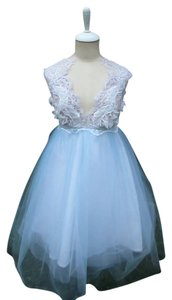 Lisa Nieves Prom Mini Beaded V-neck Tutu Dress