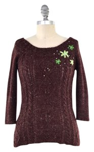 Free People Mohair Blend Embroidered Sweater