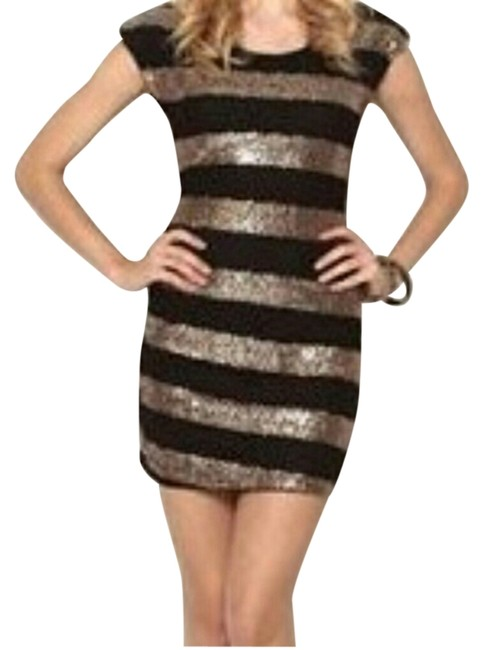 Preload https://img-static.tradesy.com/item/1471478/fashionette-style-boutique-gold-and-black-mini-night-out-dress-size-12-l-0-0-650-650.jpg