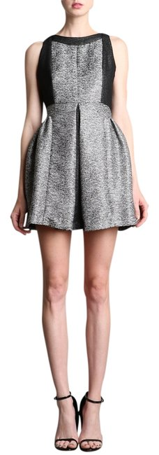 Preload https://item2.tradesy.com/images/modcloth-gray-aryn-k-jacquard-knee-length-formal-dress-size-6-s-1471481-0-0.jpg?width=400&height=650