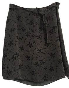 Ann Taylor Skirt Grey and black print