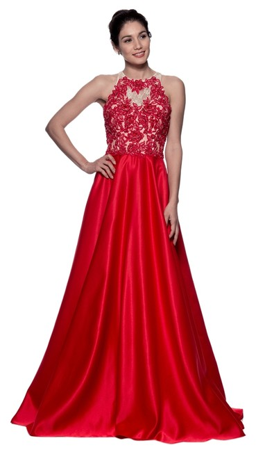 Item - Red Sr10276 Long Formal Dress Size 10 (M)