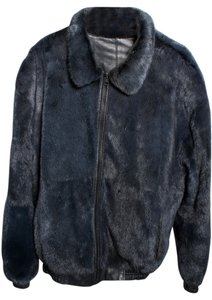 Mens Leather Mink Coat