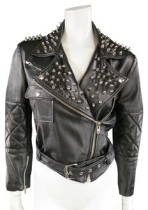 Katie Nehra Studded Spikes Summer Motorcycle Jacket