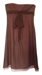 BCBGMAXAZRIA Bcbg Strapless Silk Bow Dress