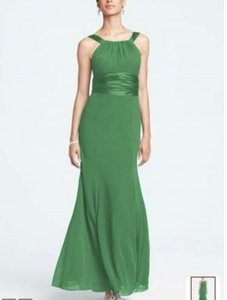 David's Bridal Clover Chiffon and Charmeuse Style F12732 Modest Bridesmaid/Mob Dress Size 16 (XL, Plus 0x)