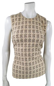 Prada Embroidered Fall Evening Dressy Top Beige