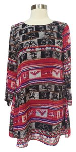 Show Me Your Mumu short dress Red Multi on Tradesy