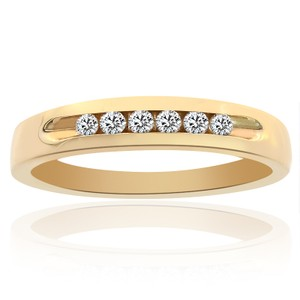 Avital & Co Jewelry 0.25 Carat Mens Round Cut Diamond Wedding Band 14k Yellow Gold