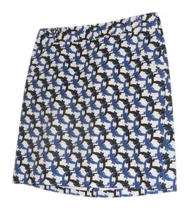 J.Crew Skirt black, white and blue