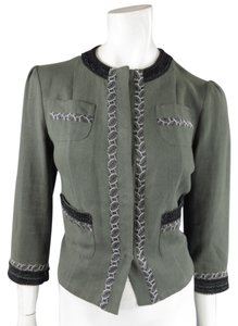 Etro Holiday Cropped Shrug Details Green Jacket