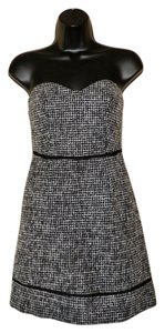 Kimchi Blue short dress Black & White Tweed Strapless on Tradesy