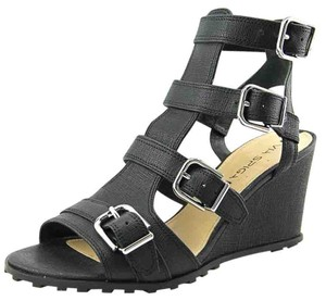 Via Spiga Sandals Open Toe Black Wedges