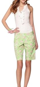 Lilly Pulitzer Bermuda Shorts Pink, Green, White