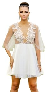 Lisa Nieves Prom Formal Lace Trim Short A-line Dress
