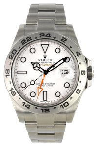 Rolex Rolex Explorer II Stainless Steel Watch White Dial 216570
