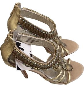 ZIGIny Sandals Evening Sandals High Heel Sandals Platform Sandals gold Formal