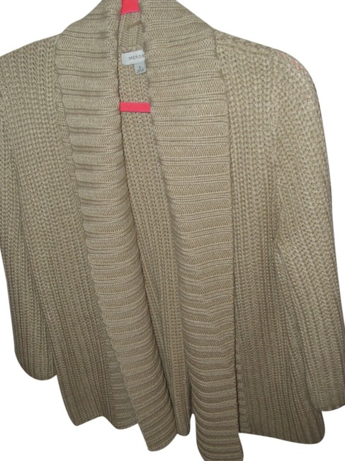 Merona Thick Wide Collar Flyaway Sweater Neutral Gift Cardigan Image 0