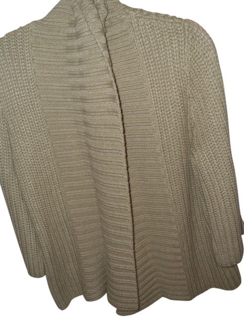 Merona Thick Wide Collar Flyaway Sweater Neutral Gift Cardigan Image 1
