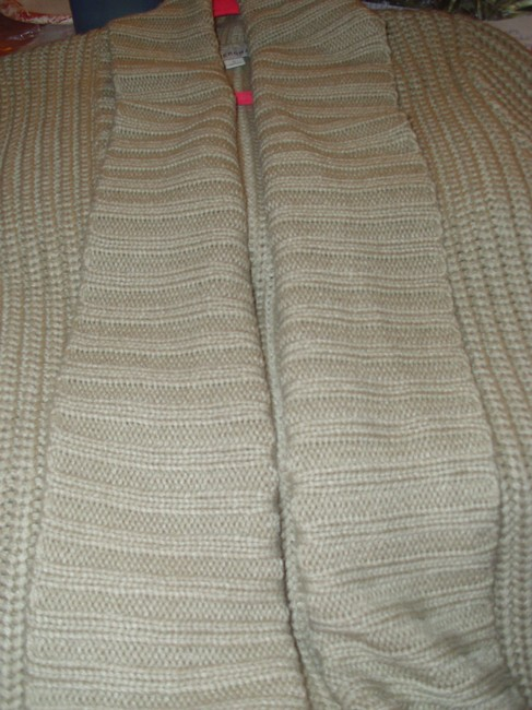 Merona Thick Wide Collar Flyaway Sweater Neutral Gift Cardigan Image 3
