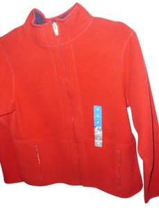 Pro Spirit Athletic Gear Soft cozy christmas holiday bright red fleece zipper jacket by Pro Spirit Athletic Gear size small
