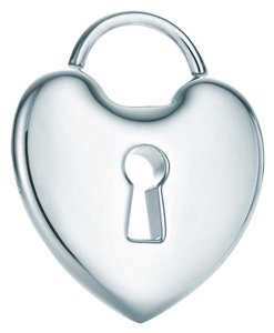 Tiffany & Co. Tiffany & Co Heart Lock Charm in Sterling Silver Large