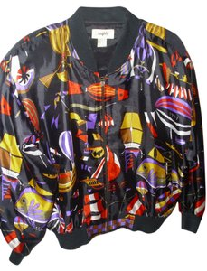 Mighty Bomber One Size Fits All Bold Multi-colored Jacket