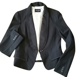 Mind Bridge Collection Tuxedo Cropped Women Formal Black Jacket