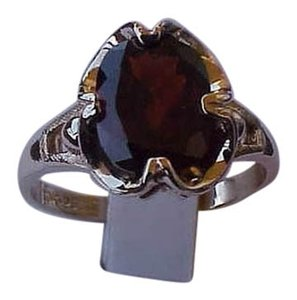 Other Vintage Estate Unique 10K Yellow Gold Genuine Huge Garnet Ring, early 1930s