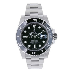 Rolex Rolex Submariner Stainless Steel Watch Black Ceramic Bezel 116610