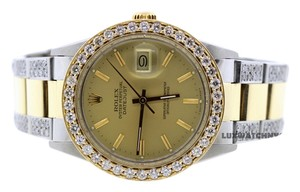 Rolex MEN'S ROLEX DATEJUST 7CT DIAMOND WATCH WITH ROLEX BOX & APPRAISAL